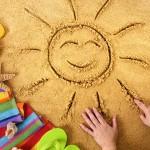 Summer beach smiling face sun